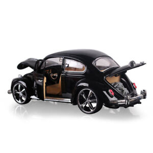 1:18 Classic VW Beetle Superior 1967 Model Car Alloy Diecast Black Collection
