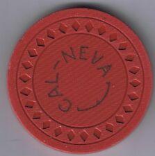 Cal Neva $5.00 Dark Pink or Red Casino Chip Diamond Mold 1945 Lake Tahoe Nevada