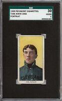 Rare 1909-11 T206 HOF Addie Joss Portrait Piedmont 150 Cleveland SGC 30 / 2 GD