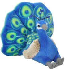 8 Inch Mini CK Peacock Bird Plush Stuffed Animal by Wild Republic