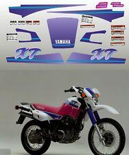 Kit adesivi decal stickers livree  yamaha xt 600 e 3tb 1993 Mod solid 1 violetto
