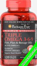 MAXIMUM STRENGTH TRIPLE OMEGA 3-6-9 FISH,FLAX&BORAGE OILS FAST DISPATCH (157)