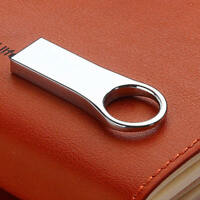 2TB 256GB USB 2.0 Flash Drive Metal Mini Memory Stick Pen Thumb U Disk Key Ring