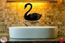 Wall Stickers Vinyl Decal Bird Swan For Bathroom Animal z1024