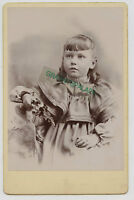 Cabinet Photo - Close Up - Little Girl All Dressed Up, Wearing Pearls