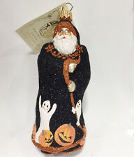 Patricia Breen Redoute Halloween Santa Ornament Glittered Ghosts Ghouls 2002 Mwt