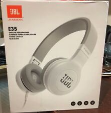 JBL E35 On-Ear Headphones with Pure Bass and mic  wired White