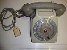 ANCIEN TÉLÉPHONE SOCOTEL S63 GRIS A CADRAN  - FONCTIONNE TESTÉ