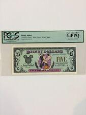 1996 Disney Dollar $5 Goofy Graded 64PPQ