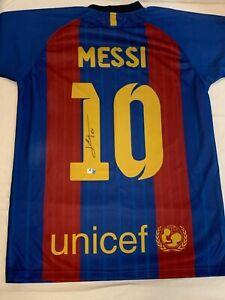 LIONEL MESSI AUTOGRAPHED FC BARCELONA JERSEY - Global Authentics Cert
