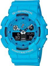 Casio G-Shock *GA100RS-2A Hot Rock Sounds Bright Blue Anadigi Watch for Men