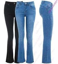 Womens Slim Fit Jean Flare Flared Denim Bootcut Jeans Size 10 12 14 6 8 New