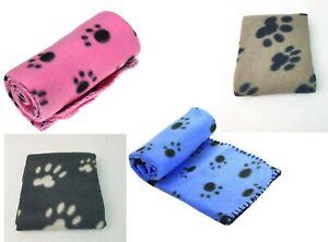 Pet Fleece Blanket Cosy Small dog/Puppy/Cat Fleece Blanket Paw Print Blanket