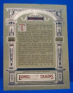Very Rare, Original 1925 Prewar Paper Lionel Dealer Silver Jubilee Announcement