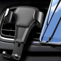 Soporte teléfono coche de cuero para ventilación de coche Teléfono móvil K