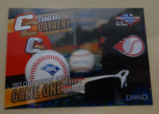 Canberra Cavalry Championship - Game One - 2013/14 Australian Baseball League