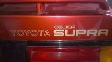 TOYOTA CELICA SUPRA 2.8i Mk2 MA61 Hayon Coffre Coffre decals Graphics badges