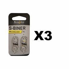 Nite Ize S-Biner MicroLock Stainless Locking Carabiner Keychains (3-Pack of 2)