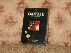 YAHTZEE RARE MB ORIGINAL DELUXE TRAVEL DICE COMPLETE GAME VINTAGE - STILL SEALED