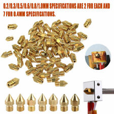 19x MK8 Extruder Nozzle 0.2~1.0mm For Makerbot Creality CR-10 Ender 3D Printer