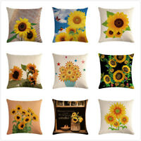 Sunflower Design Pillow Case Sofa Couch Car Home Decor Square Cushion Cover