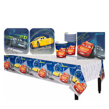 Disney CARS 3 Boys Birthday Party Pack ~ Cup Plates Napkins Table Cover 33pcs