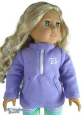 "For 18"" American Girl Doll Clothes Purple Winter Fleece Jacket REGULAR PRICE $14"