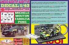 ANEXO DECAL 1/43 AUDI QUATTRO M.MOUTON R DES 1000 PISTES 1981 (01)