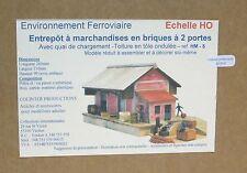 Colinter Productions : Entrepot à marchandises en briques à 2 portes + quai - HO