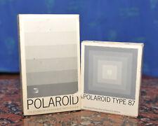 X4 Polaroid Type 107 E Type 87 (Fuji FP 3000b) Expired 02/84