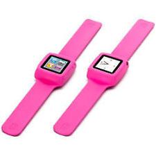 Slap pulsera flexible Estilo Reloj Ipod Nano 6G Rosa