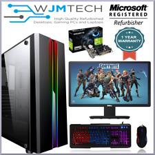 Gaming PC Bundle Intel Core i7 2600 1TB 16GB Windows 10 2GB GT710 19' TFT WiFi