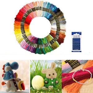 50 Multicolour Embroidery Thread Craft Cross Stitch Bundle Needlecrafts Sets