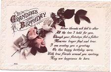 Grandpa's Birthday Greetings Card  From Grandaughter Laura Vintage  Postcard