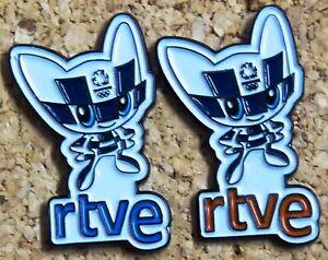 2 pin set Olympic Games Tokyo Japan 2020 Media TVE Spain Radio Miratowa