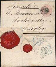 WORCESTER BRIDGE  UNDATED CIRCLE 1852 + SEAL WOODS CHEMIST STATIONERY to CHORLEY