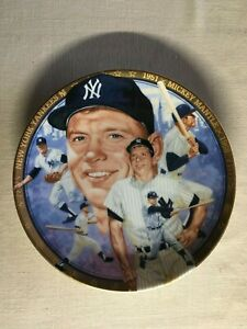 """Mickey Mantle """"Hamilton Collection"""" Limited Edition Collector's Plate #3635W"""