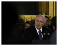 Dick Cheney At President Gerald Ford State Funeral 8x10 Silver Halide Photo