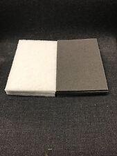 3M Bundle 7448/07448 7445/07445 Scotch-Brite Scuff Pads White& Grey  5 of each