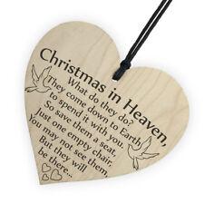 Christmas in Heaven Memory Poem Sign / Plaque Memorial Decoration Love Ones