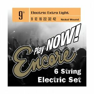 Encore Electric Guitar String Set Nickel Wound 9-42  - Extra Light EES9