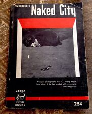 Weegee's Naked City Vintage 1945 Zebra Picture Books Unusual Rare