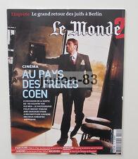 Monde 2 n° 204 FRERES COEN ALBERTO VILAR FOLIES-SIFFAIT SIMONE BEAUVOIR 12/01/08