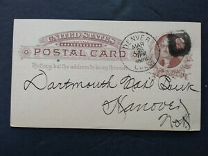 Colorado: Denver 1886 National Bank Postal Card, Fancy Bold D Cancel