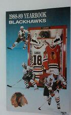 Vintage NHL 1988-89 CHICAGO BLACKHAWKS Media Guide RARE Hockey Denis Savard