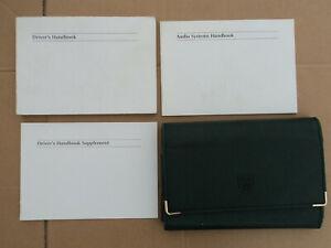 Jaguar X-Type 01-04 Owners Manual Handbook Green Wallet Glovebox GENUINE 3.0 2.5