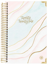 2021 Hard Cover Ethereal Marble Calendar Year Daily Planner Agenda January - Dec