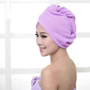 Bathing Microfiber Towel Quick Dry Hair Drying Hat Spa Turban Wrap Z5U4