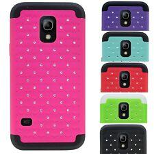For Samsung Galaxy S5 Mini Case Hybrid Hard Diamond Bling Protective Tough Cover