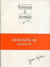 RENAUD ET ARMIDE Programme AVIGNON 1988